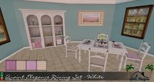 Quaint Elegance Dining Set - White by Sahi Designs