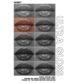 Honey- Ultra Gloss Lips (#3)