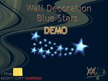 X-mas Wall-decoration Blue Stars by Wild Motley DEMO