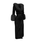 Pare.Barbara Fur Coat - Onyx