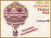 HOT AIR BALLOON Vintage Pink (9 LI) (Full perm)