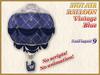 HOT AIR BALLOON Vintage  Blue (9 LI) (Full perm)