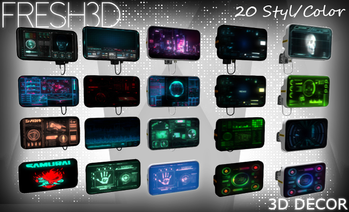 Fresh3D Sci-fi  Displays