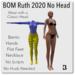 Blackburns 2020 Ruth BOM Body No Head Bento