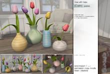 Sway's [Carlin] Vase with Tulip . pastels