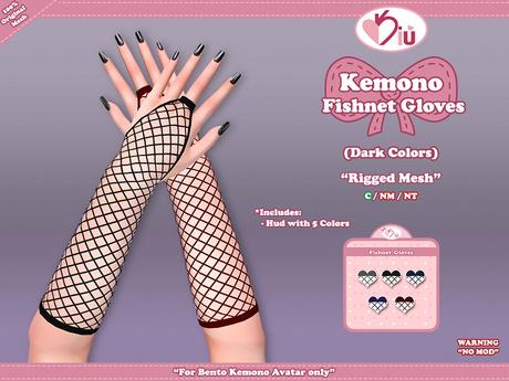 *>Kiu<* - Kemono Fishnet Gloves _DC
