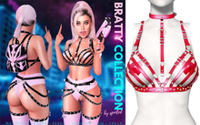 Spoiled - Bratty Bra Harness + Patches Red