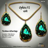 Lazuri Ophira V2 Gift Necklace Earrings - Mesh