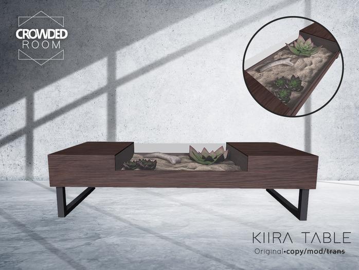 Crowded Room - Kiira Table - Dark Wood (ADD ME)