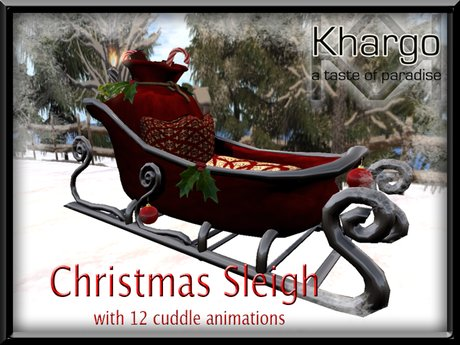 CHRISTMAS SLEIGH WITH 12 MENU DRIVEN CUDDLE ANIMATIONS