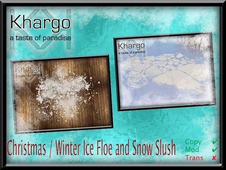 CHRISTMAS / WINTER ICE FLOE AND SNOW SLUSH