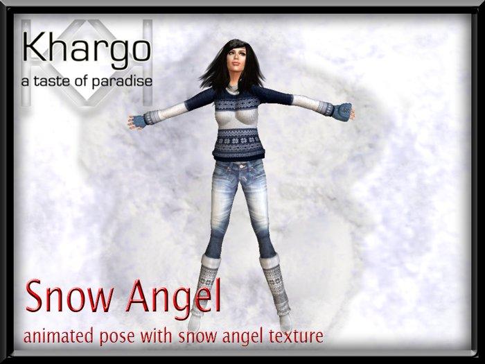 CHRISTMAS / WINTER ANIMATED SNOW ANGEL