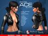 GRAVES Ace - Black - leather latex Mesh Jacket for Maitreya, Slink, Belleza, Tonic, Ocasion