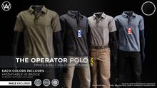 [WAZ] Operator Polo (Black)