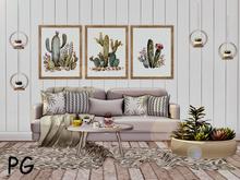 <Heart Homes> Succulent Sofa Set  - PG