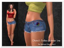 Ohana Belted Denim Shorts Fatpack [BELLEZA FREYA]