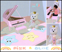Toy piano pink for baby Zooby