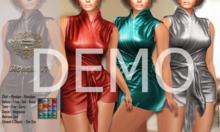DEMO - ND - Micaella Tied Wrapped Mini Dress