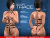 GRAVES Trace - Leather Latex Harness for Maitreya, Slink Hourglass, Belleza Isis & Freya