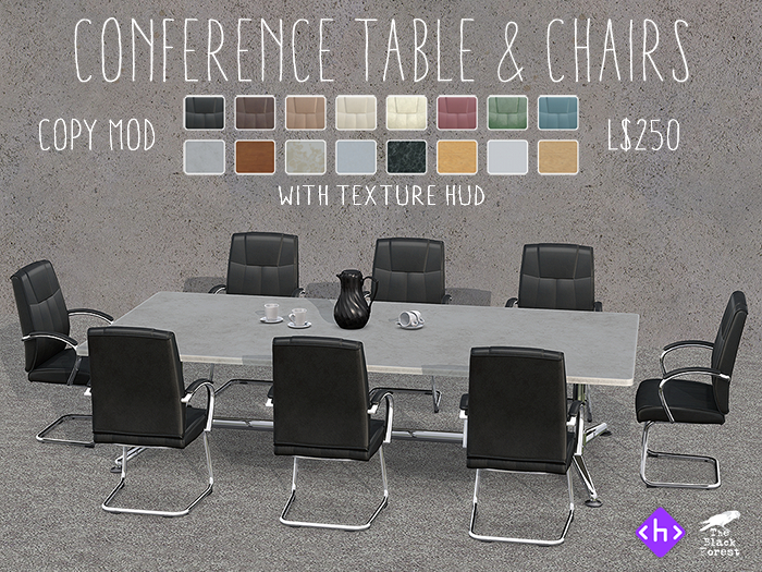 Conference Table & Chairs With Texture HUD