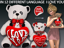 [SuXue Mesh] Valentine Teddy Bear 12 language Heart + Hud