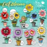 (NO) Cat Blossoms - Coco - Blue Knapweeds