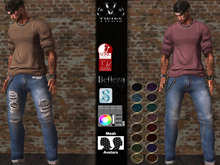 V-Twins  Biker - Crow Male Outfitt Casual Version for Signature Gianni, Belleza Jake and Slink