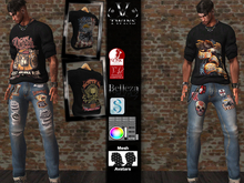 V-Twins  Biker - Crow Male Outfit Biker Version for Signature Gianni, Belleza Jake and Slink