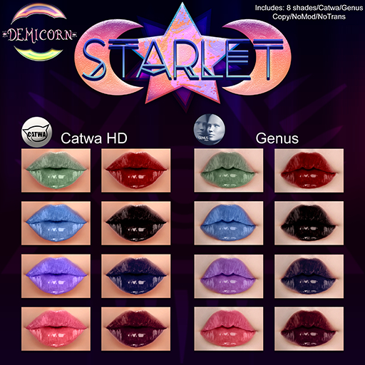 {Demicorn} Starlet LIppies - FATPACK
