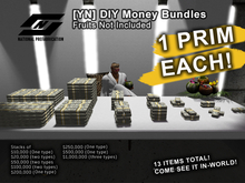 ![YN] Dinheiro DIY Money Stacks, Bundled Cash, Bank Notes $1000000 Type1