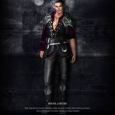 RFyre Magen Roleplay Mesh Fantasy Mens Leather Armor -Black-B