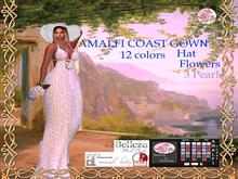 Amalfi Coast Gown-Bow-pearl-hat kk