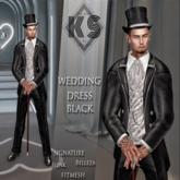 WEDDING DRESS MAN BLACK