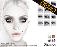 Zibska ~ Noir Pack Vol 13 eyeshadow demos [lelutka/catwa/omega/tattoo/universal tattoo]