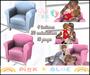 Breastfeeding Sofa Blue & Pink Toddleedoo