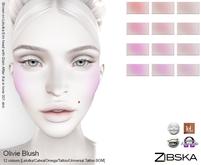 Zibska ~ Olivie Blush in 12 Colours [Lelutka/Catwa/Omega/tattoo/universal tattoo BOM]