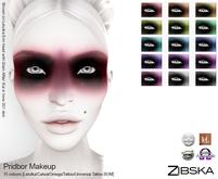Zibska ~ Pridbor eye makeup in 15 colors with Catwa, Lelutka and Omega appliers, tattoo & universal tattoo BOM layers