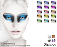 Zibska ~ Razmig Makeup in 15 colors with Lelutka, Catwa, Omega, Tattoo & Universal Tattoo BOM