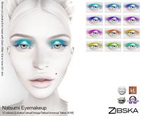 Zibska ~ Natsumi Eyemakeup in 12 colors with Lelutka, Catwa and Omega, tattoo & universal tattoo BOM layers