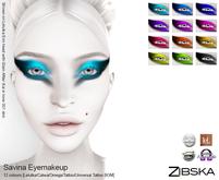 Zibska ~ Savina Eyemakeup in 12 colors with Lelutka, Catwa and Omega appliers, tattoo & universal tattoo BOM layers