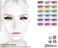 Zibska ~ Gina Eyemakeup wiht Lelutka, Catwa, Omega, tattoo & universal tattoo BOM layers