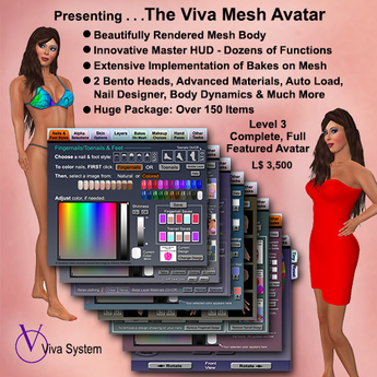 VIVA>> Full Featured Mesh Avatar - MAIN FOLDER