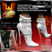 "!Drakke! ""Lucky"" Ankle Boots(White)  ~ (works with All Viewers, Includes Alpha Masks & Invisi Prims)"