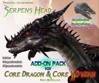 THE SERPENS ~ Add-On Head for PREHISTORICA Dragon / Wyvern Avatar