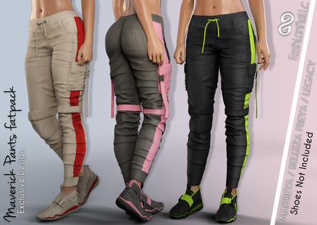 FashionNatic - Maverick Female Pants Fatpack - Maitreya Lara, Belleza Freya, Legacy