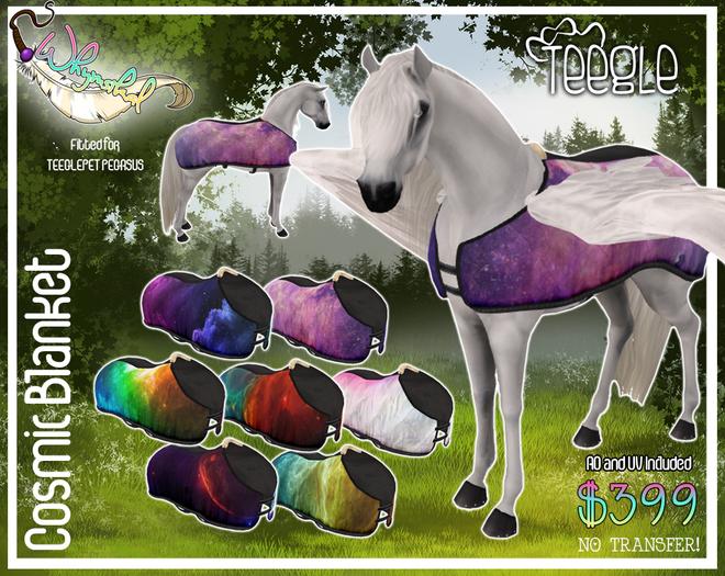 Teeglepet Cosmic Blanket - Pegasus
