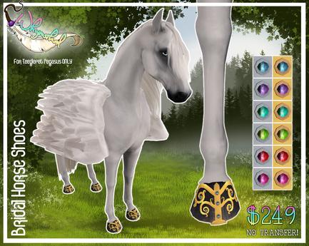 Bridal Horse Shoes - Pegasus