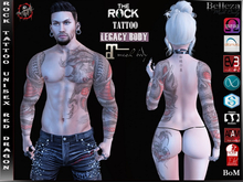 Rock Tattoo Unisex - Red Dragon ( Full Body )