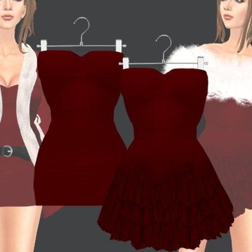 *~PS~*mini Dress(darkRed)