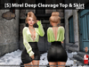 [S] Mirel Deep Cleavage Top & Skirt Green